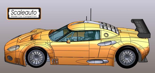 SPYKER C8 GT2 R SCALEAUTO