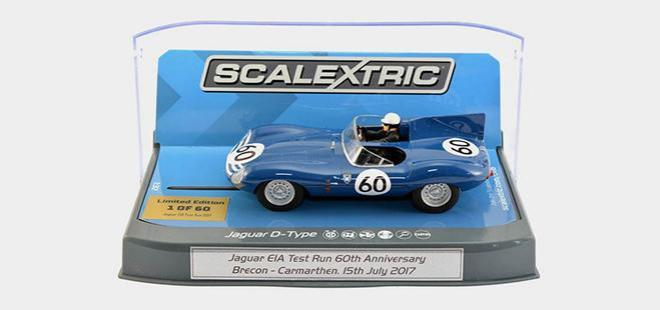 JAGUAR D TYPE FIRST RUN ANNIV. SCALEXTRIC PENDLE