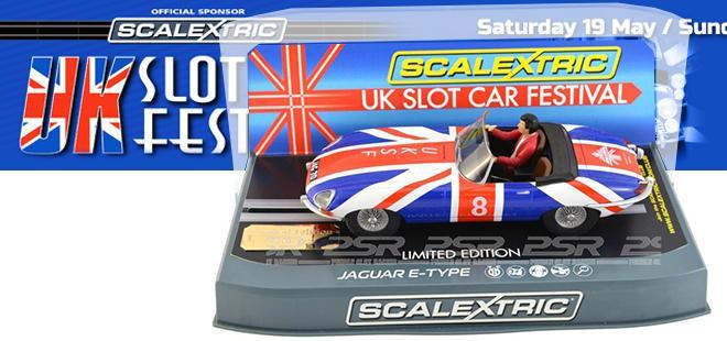 JAGUAR E TYPE UKSCF LIMITED ED. SCALEXTRIC