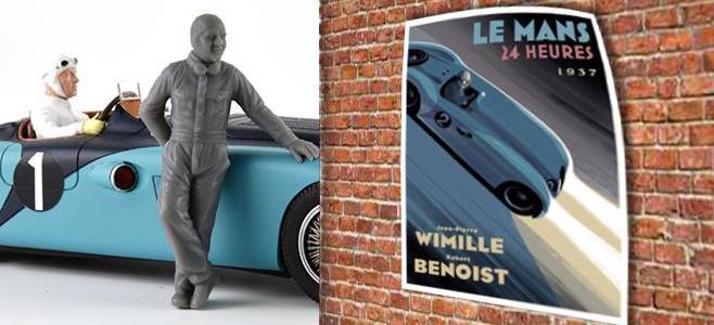 JP WIMILLE FIGURE LE MANS MINIATURES