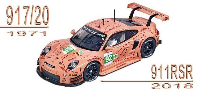 PORSCHE 911 RSR PINK PIG CARRERA