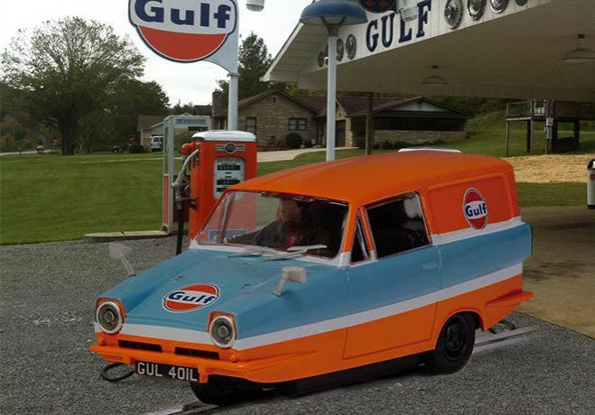 RELIANT REGAL GULF SCALEXRIC
